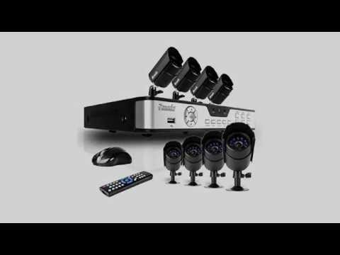 Zmodo PKD DK0855 500GB 8 Channel DVR Security System with 8 CMOS IR Cameras, 500 GB Hard Drive, and
