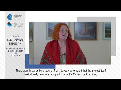 Video feedback of Liubov Povidaichyk-Bendzar, graduate of the Ukraine-Norway project
