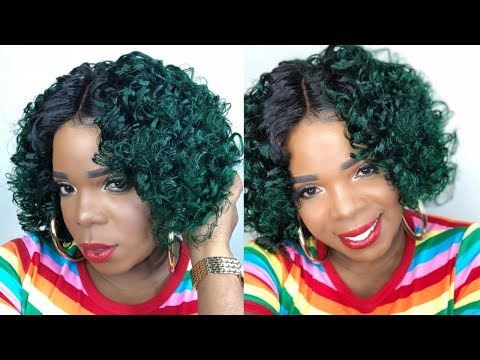 GREEN GODDESS||AMAZING PIN CURLS FOR LONG LASTING CURLS