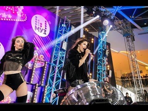 Nyusha / Нюша - Не перебивай, Только, Ночь, Цунами (@Live, Партийная зона МУЗ-ТВ, 15.04.18)