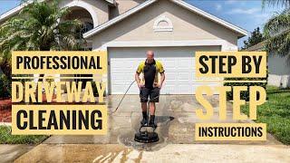 Pressure Washing Concrete Driveway - The Professional Way