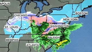 Winter storm slamming half the country with snow, sleet and rain