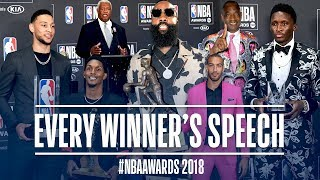 EVERY Speech From The NBA Awards! | Harden, Gobert, Oladipo and More!