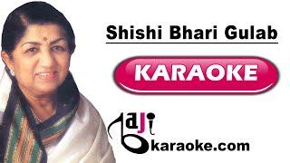 Shishi bhari gulab ki - Video Karaoke Lyrics - Lata   - YouTube