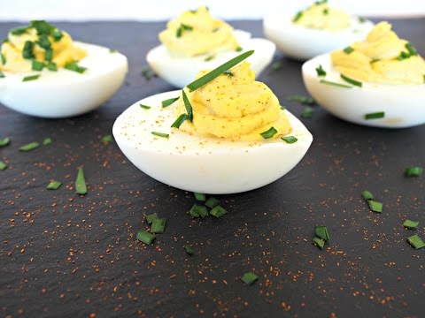 Appetizer Recipe: Truffle Chive Deviled Eggs by Everyday Gourmet with Blakely