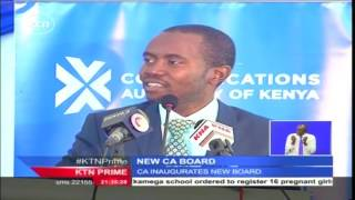 Government inaugurates the new board for the Communication Authority of Kenya