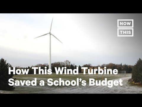 How This Wind Turbine Saved a School's Budget   NowThis