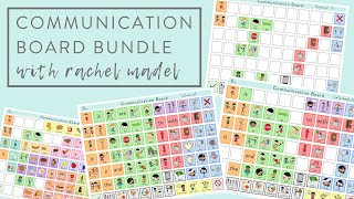 Communication Board Bundle: Whats Included?