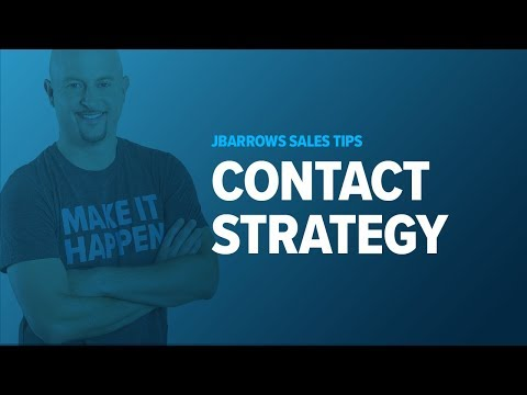 B2B Sales Training - Your Cold Call Contact Strategy - YouTube