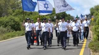 12.6.11 צעדה וטקס לזכר שלושת קציני המשטרה שנספו באסון השריפה בכרמל | March and ceremony in memory of