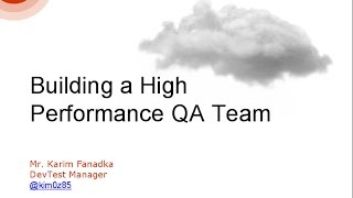 [Srijan Wednesday Webinar] Building a High Performance QA Team