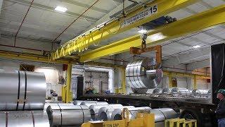 15-Ton Double Girder Overhead Crane For Steel Coils