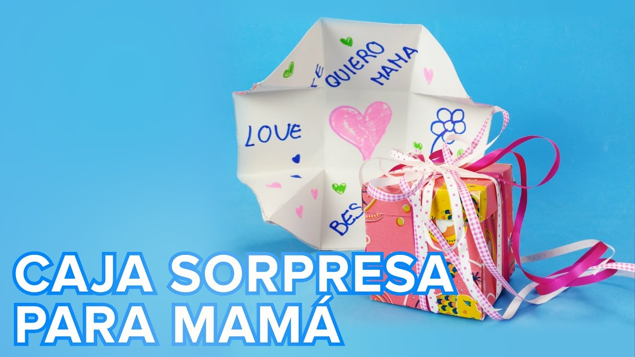Caja tarjeta sorpresa para el Día de la Madre | Manualidades para niños