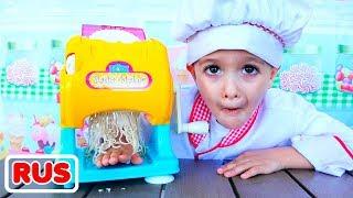 Влад и Никита играют в кафе | Коллекция видео для детей