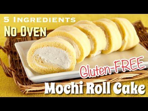 How to Make Mochi Roll Cake (NO OVEN / Dairy-FREE/ Gluten-FREE / 5 Ingredients Recipe)   OCHIKERON