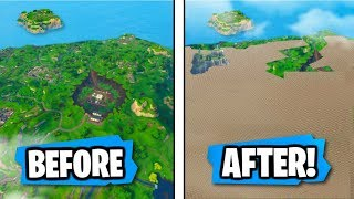 COVERING the FORTNITE MAP with MATERIALS!! (NEW PLAYGROUND MODE!)