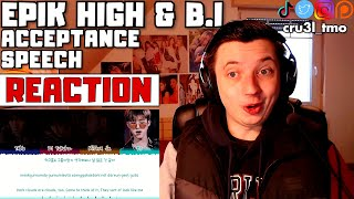 KIM HANBIN RETURNS (Epik High (에픽하이) - 수상소감 (Acceptance Speech) ft. B.I Lyrics | REACTION)