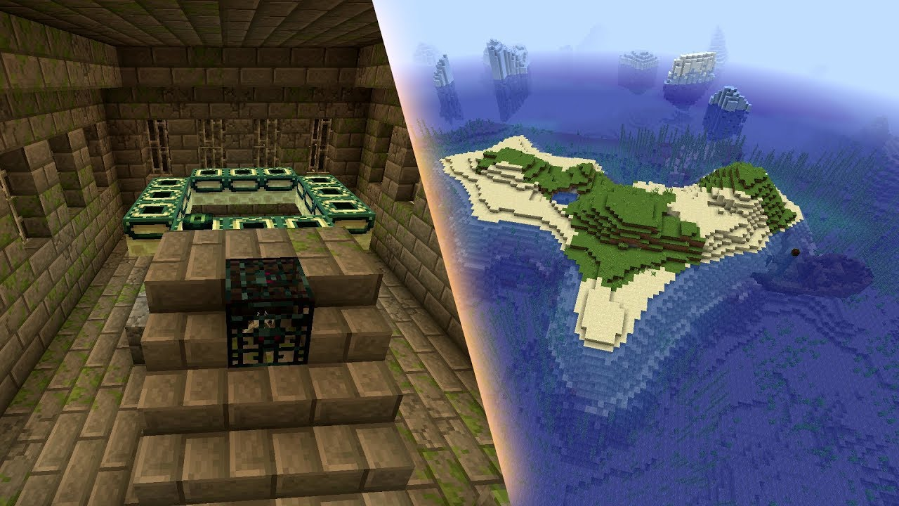Minecraft 1.15.1 Seed: Stronghold right under a survival island MINECRAFT SEED 713872010606018950