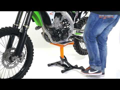 Instrucciones Caballete elevador Motocross/Supermoto/Enduro Lift naranja Kawasaki KX 450
