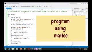 program using malloc function - example