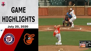 Baltimore Orioles Vs Washington Nationals Highlights - July 20, 2020