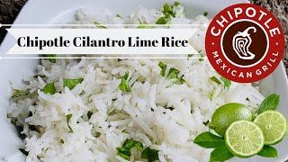 Chipotles Official Cilantro Lime Rice Recipe! Cilantro Lime Rice Recipe (Chipotles) Copycat Recipe