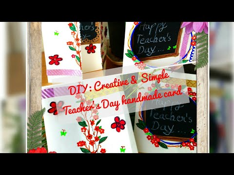 Handmade cards for Teachers day