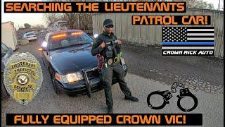 Searching the Lieutenants Patrol Car! Police Interceptor