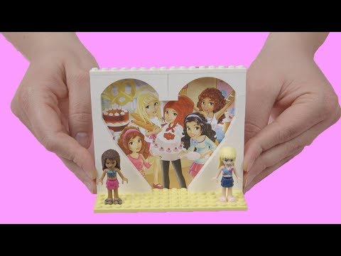 How To Build A LEGO Heart Frame! LEGO Picture Frame DIY Tutorial