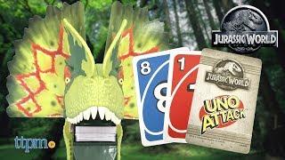 Uno Attack Jurassic World from Mattel