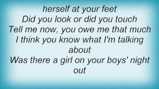Terri Clark - Was There A Girl On Your Boys' Night Out Lyrics
