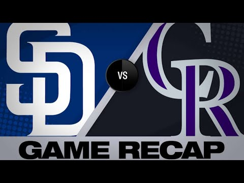 Desmond, Blackmon lead Rox over Padres | Padres-Rockies Game Highlights 6/15/19