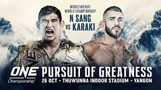 [Full Event] ONE Championship: PURSUIT OF GREATNESS