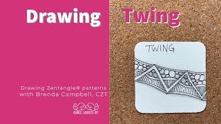 Zentangle ® Patterns   Angel Whispers Art   TWING