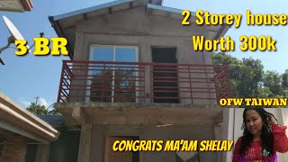 WORTH 300K 2 STOREY HOUSE, 10x20ft, DREAM HOUSE OF MAAM SHELAY SAURE OFW IN TAIWAN, 3 BR, 1 T&B