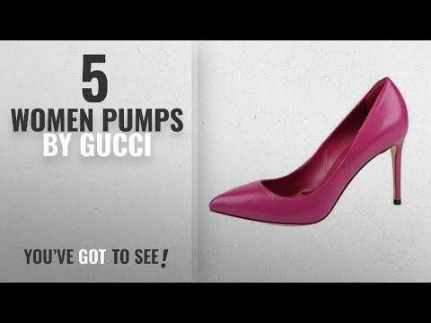 Top 5 Gucci Women Pumps [2018]: Gucci Magenta Leather Pointed Toe Heel Pump 338723 (8 US / 38 IT)