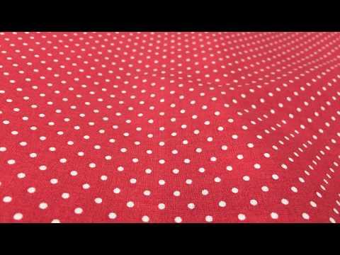 Dekostoff Baumwollstoff rot weiß Punkte klein