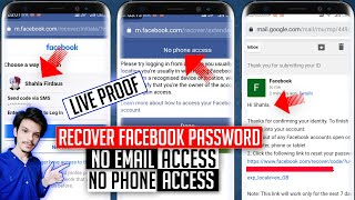 Recover Facebook Password Without Email or Phone Number | Reset Facebook Password | 2021