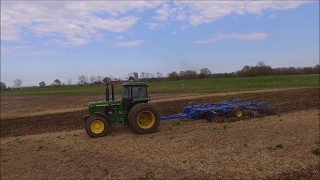 John Deere 4055 & Landoll VT 7410 Working On Spring Tillage! With The DJI Phantom 3