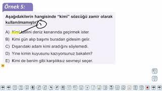 Eğitim Vadisi TYT Türkçe 15.Föy Zamirler - 1 Konu Anlatım Videoları