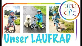 Wie und warum Laufradfahren glücklich macht   Laufrad für 3 Jährige   Das Glückskind