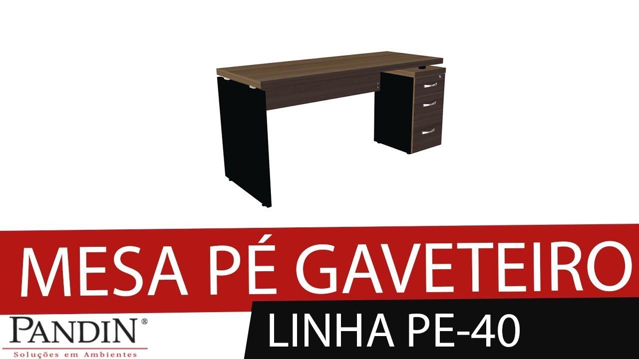 Manual em Vídeo - Mesa Pé Gaveteiro PE-40