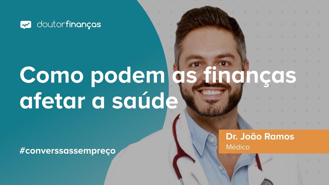 Imagem de um smartphoneonde se vê o programa Conversas sem Preço com a entrevista ao Dr. João Ramos