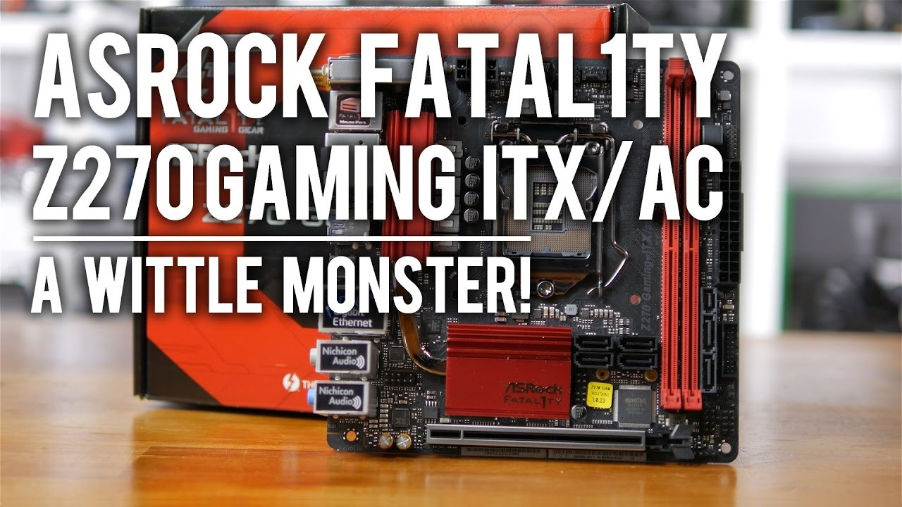 Asrock Fatal1ty Z270 Gaming Itx Ac Motherboard Diagram With Labels
