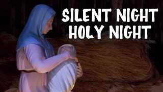 Silent Night Holy Night With Lyrics | Popular Christmas Carols For The Tiny Tots