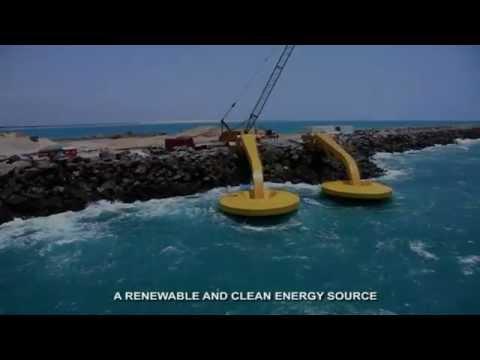 Usina de ondas – a energia gerada a partir do movimento das ondas.