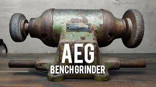 AEG | German Bench Grinder | Restoration & Modification | 4K