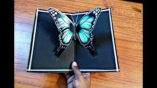 DIY 3D Butterfly POP UP Card Crafts-Handmade Craft