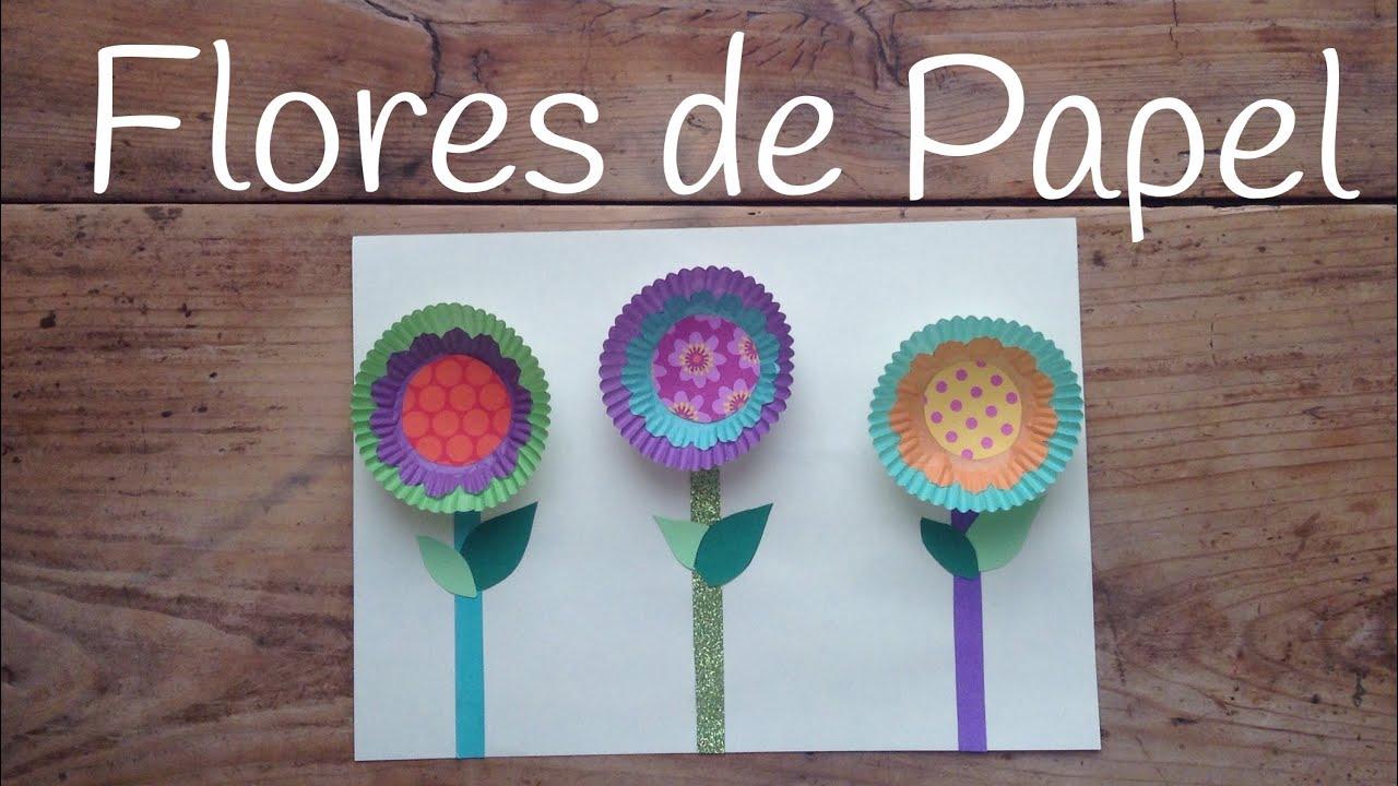 Manualidades para el DÍA DE LA MADRE - Flores de papel fáciles y rápidas