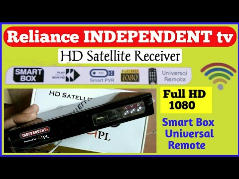 Reliance INDEPENDENT tv HD Satellite Receiver Setboxes Unboxing